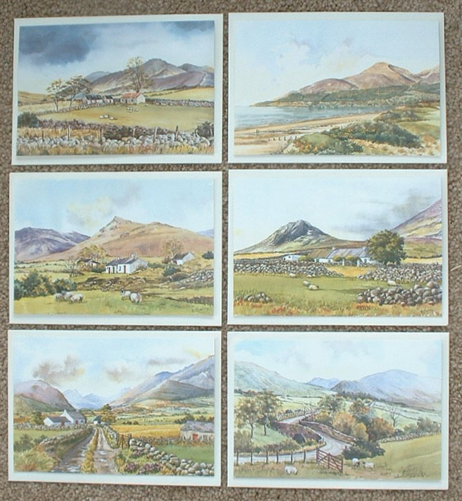 Set of 6 Greeting Cards - Scenic Northern Ireland