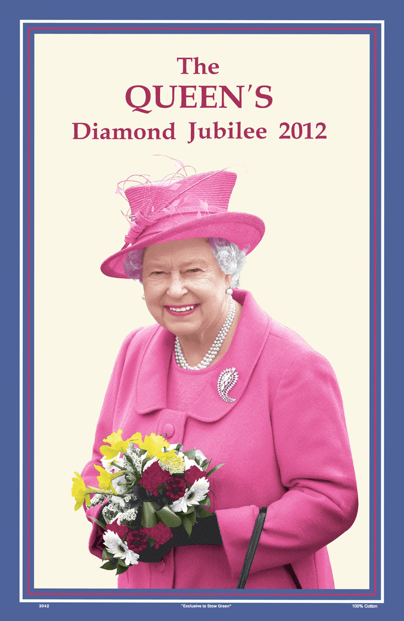 The Queen's Diamond Jubilee Cotton Tea Towel 2012
