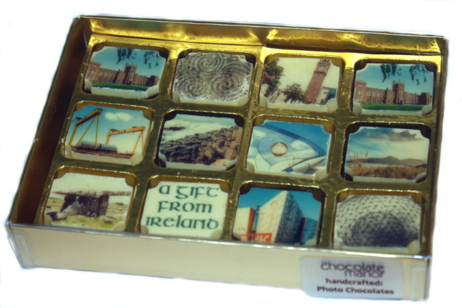 Printed N.I. Landmark Souvenir Chocolates - Box of 12