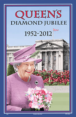 The Queen's Diamond Jubilee Cotton Tea Towel 1952 - 2012