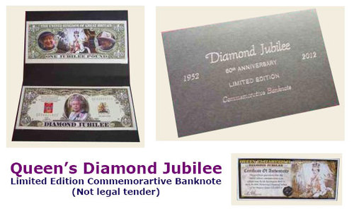 Queen's Diamond Jubilee £1 Commemorative Banknote Special