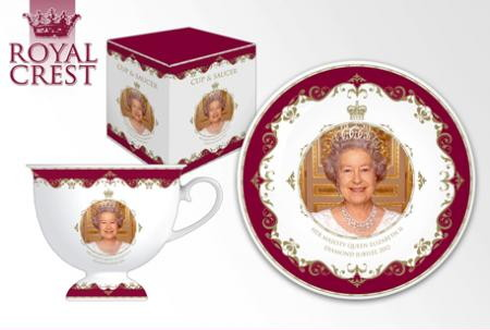 Queen's Diamond Jubilee Bone China Teacup & Saucer