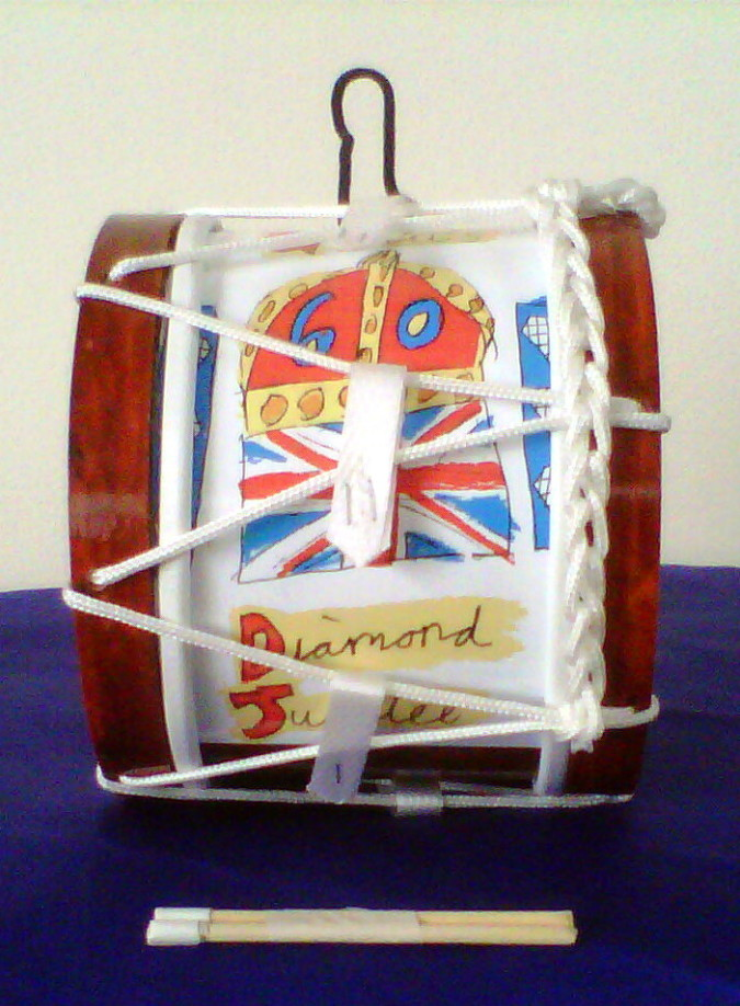 Lambeg Drum | Souvenir | Queen's Diamond Jubilee Logo