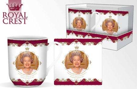 Queen's Diamond Jubilee Bone China Mug & Coaster