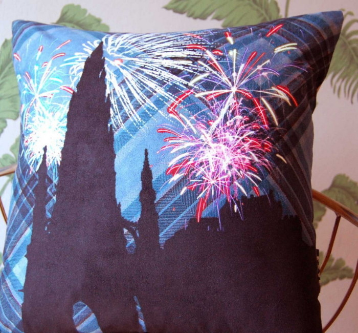 Edinburgh Fireworks Cushion