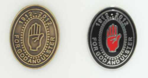 For God & Ulster | 1912-2012 | Enamel | Pin Badges | 100 Years
