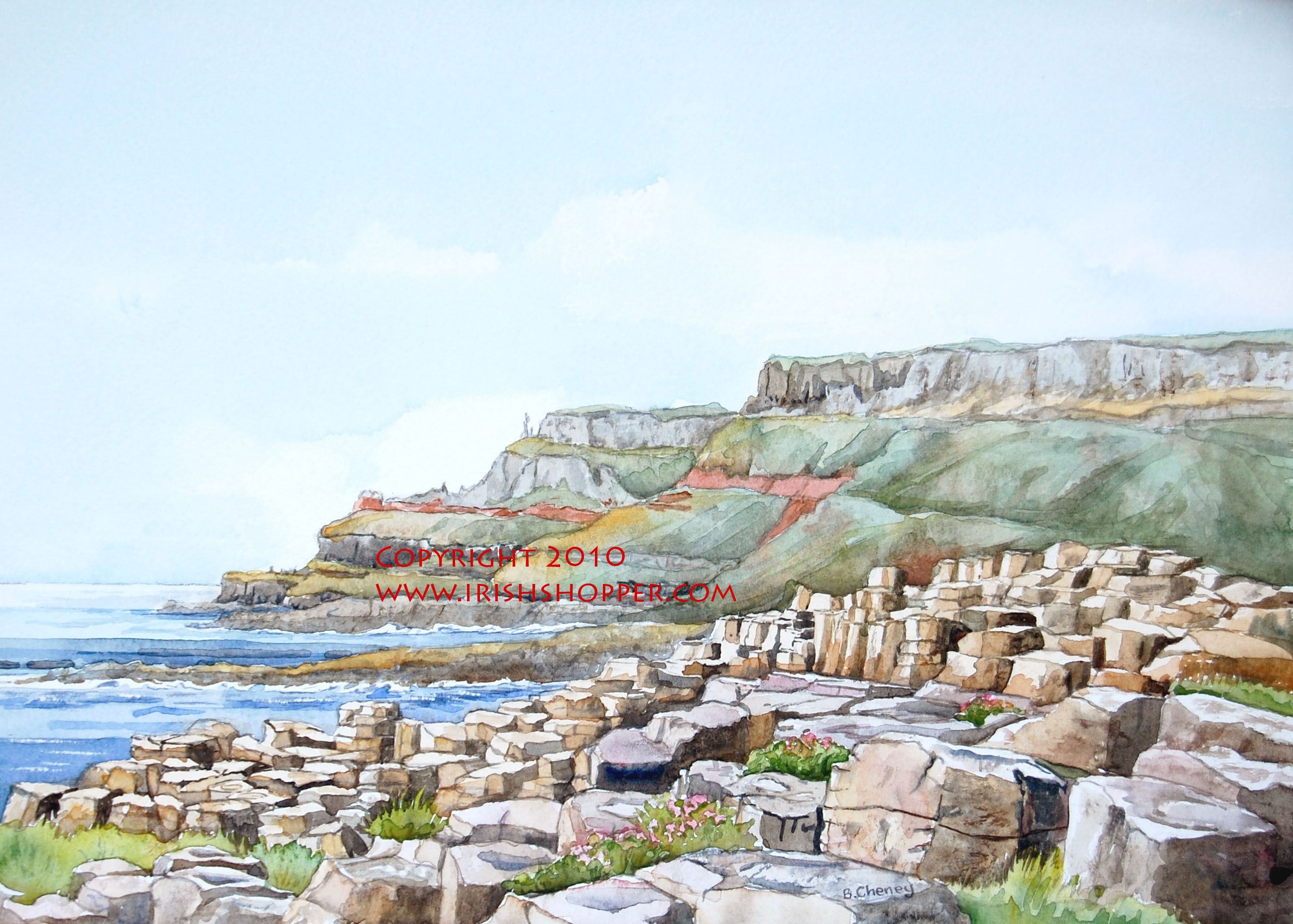 The Giant's Causeway - Large Print