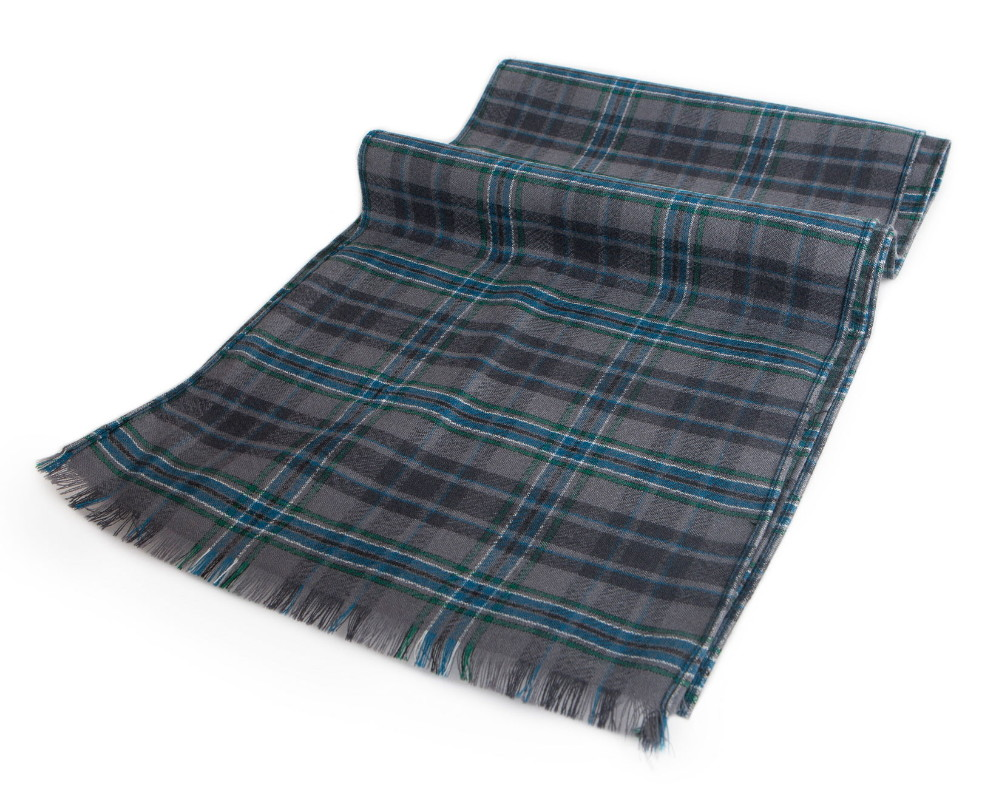 Giants Causeway Tartan Wool Fringed Scarf