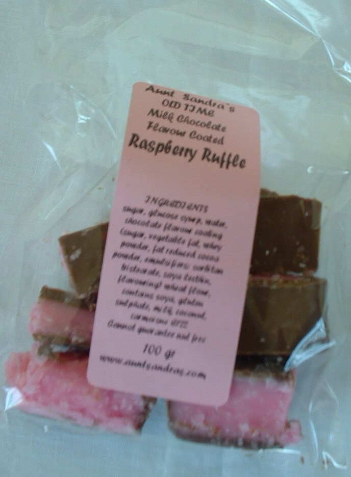 Milk Chocolate Raspberry Ruffles - 100g Bag