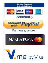 We accept Credit, Debit Cards via PayPal & NoChex