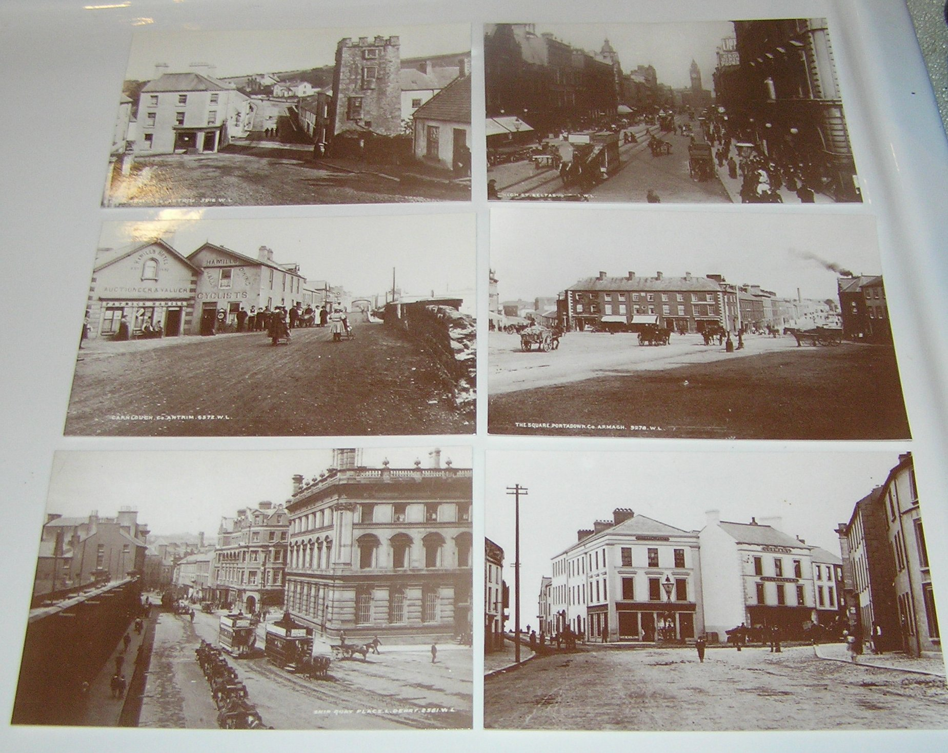 Set of 6 Old Northern Ireland Postcards - Click Image to Close