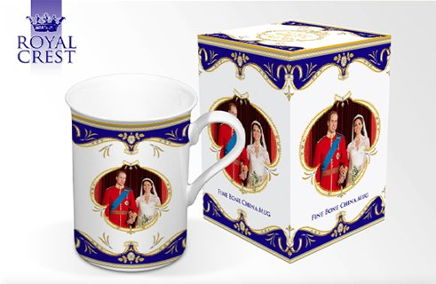 Royal Wedding Day Fine Bone China Can Shaped Mug