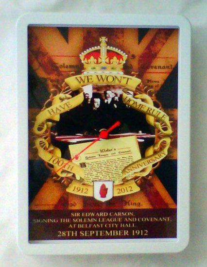 The Signing of The Ulster Covenant 100th Anniversary Wall Clock