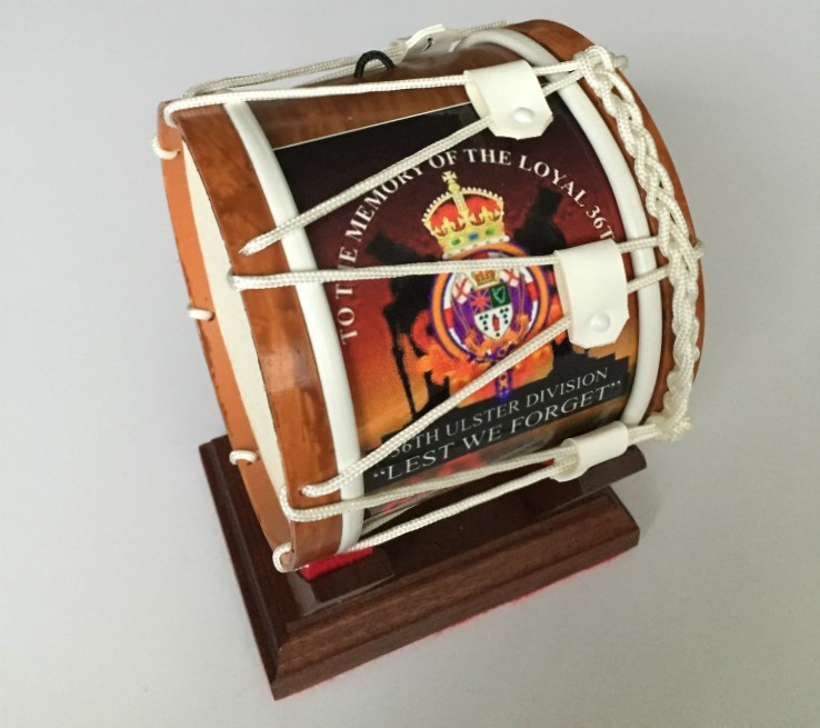 36th Ulster Division Limited Edition Mini Lambeg Drum With Stand