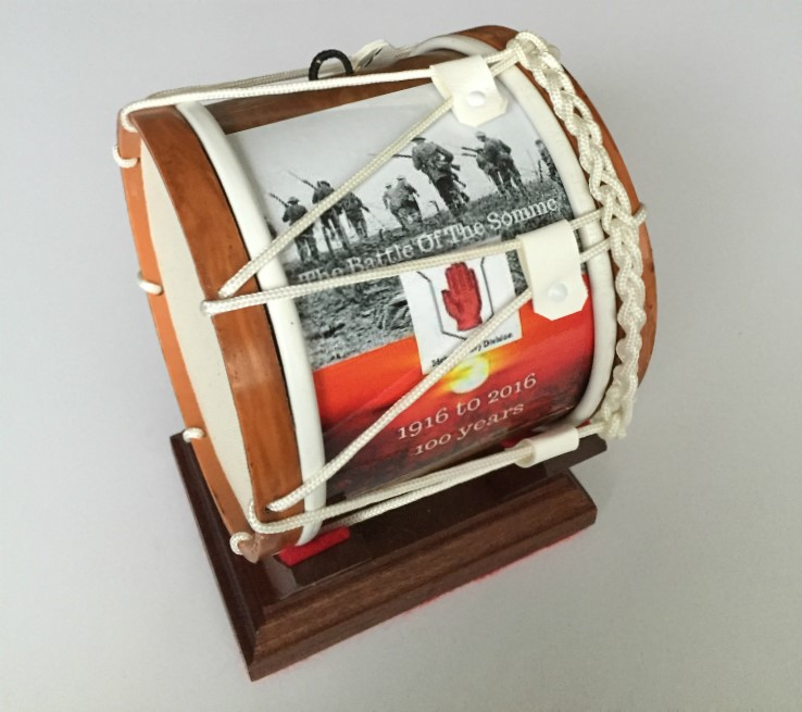 Battle Of The Somme Limited Edition Mini Lambeg Drum With Stand