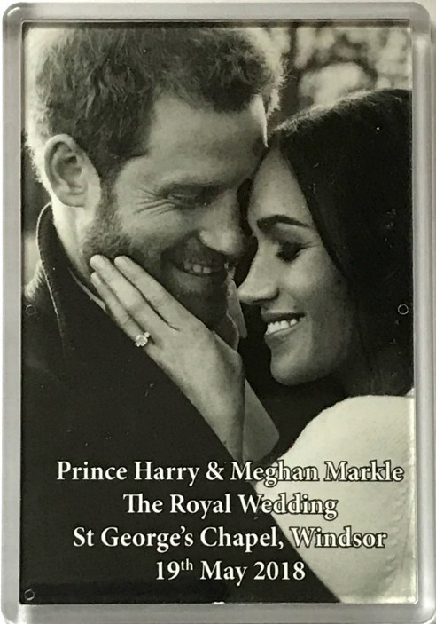 Prince Harry and Meghan Markle Royal Wedding Fridge Magnet 2