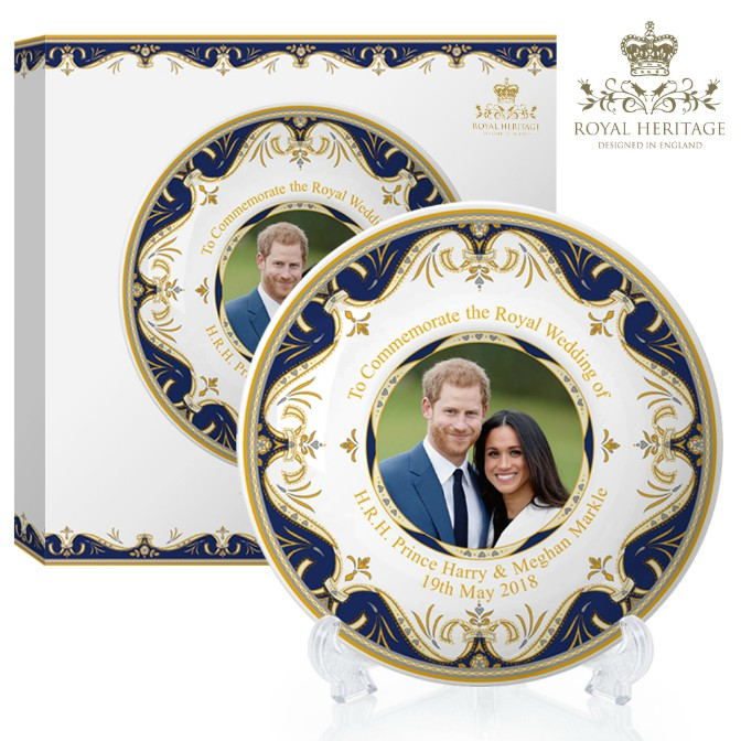 Royal Wedding Prince Harry and Meghan Markle China Large Plate
