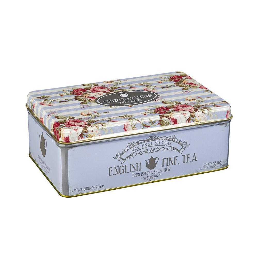 Vintage Floral Fine English Tea Selection 100 Teabags