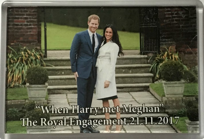 When Harry met Meghan Fridge Magnet