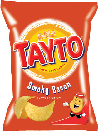 Tayto � Smoky Bacon � Potato Crisps � 35g Bags x 24